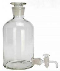Склянка-аспиратор с краном и притертой пробкой, 1000 мл (бутыль Вульфа)