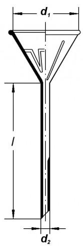 Воронка лабораторная, 100 мм, ребристая