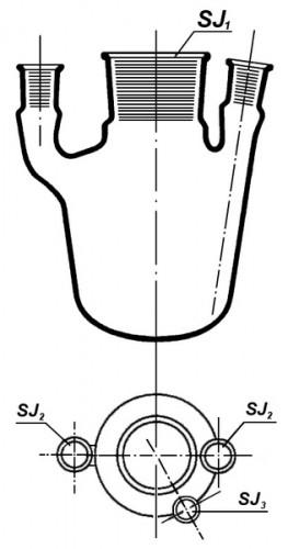 Колба 4-хгорлая 1500 мл