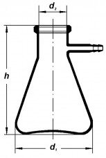 Колба Бунзена, широкогорлая, 100 мл