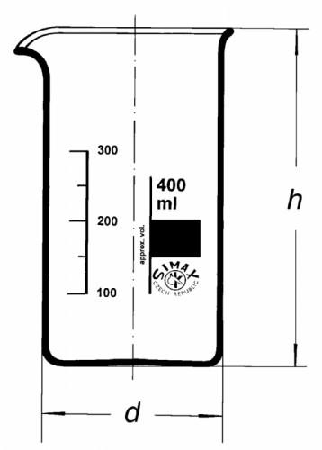Стакан высокий, В-1-25