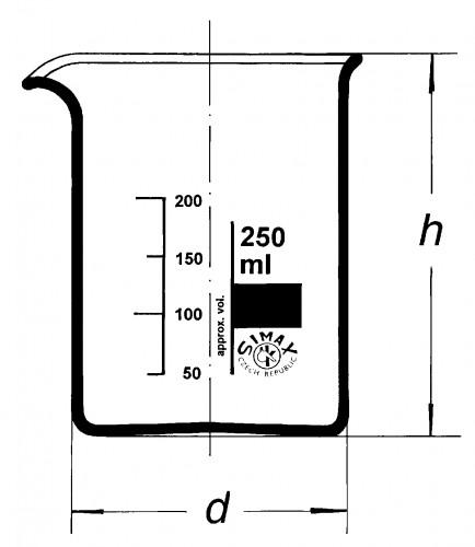 Стакан низкий, Н-1-25