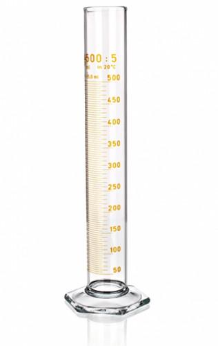 Цилиндр высокий, класс 2, 500 мл, с коричневой градуировкой