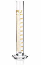 Цилиндр высокий, 1000 мл, с носиком, коричневая шкала