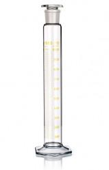 Цилиндр высокий, класс 2, 100 мл, с пластмассовой пробкой, коричневая шкала