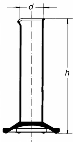 Цилиндр низкий, 10 мл, с носиком, без шкалы