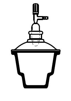 Эксикатор с краном, диаметр 215 мм, шлиф 24/29