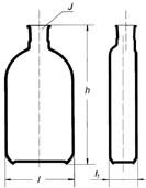 Бутыль Роукса, культуральная, 250 мл, формованная горловина сбоку