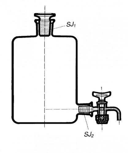 Бутыль Вульфа с краном, 15000 мл