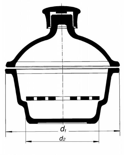 Эксикатор верхним диаметром 392 мм, без крана