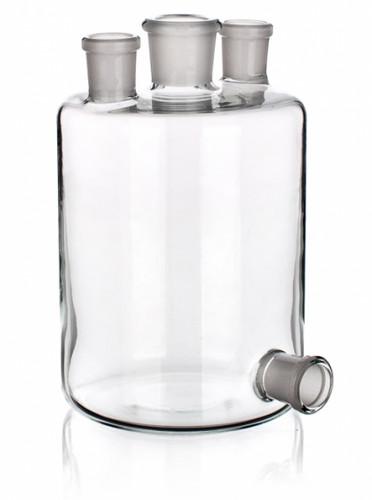 Бутыль Вульфа с 3 горловинами, 1000 мл, с нижним выходом