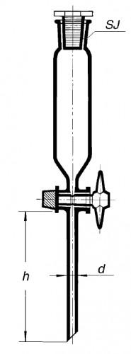 Воронка делительная, 2000 мл, цилиндрическая