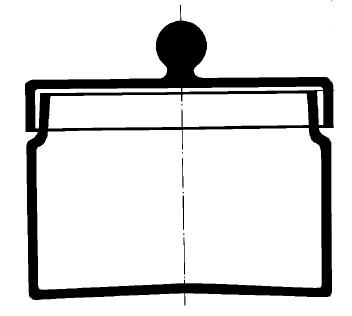 Бюкс с выемкой под крышку и крышкой, 120х80 мм