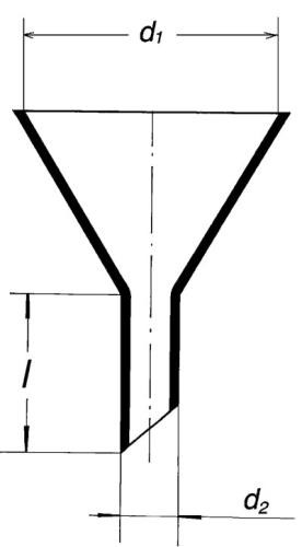 Воронка лабораторная, 60 мм, широкий стебель