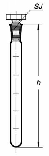 Пробирка для образцов с притертой пробкой, 18*180