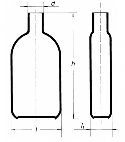 Бутыль Роукса, культуральная, 250 мл, горловина по центру