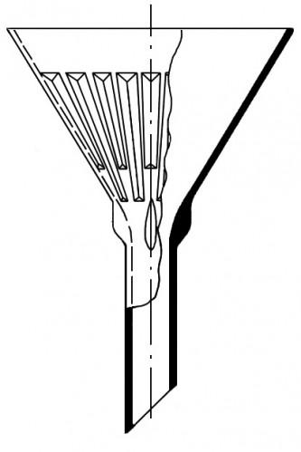 Воронка рифленая, 100 мм