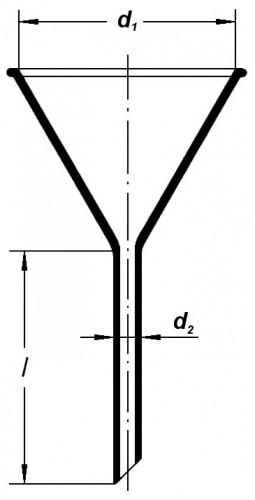 Воронка лабораторная, 55 мм