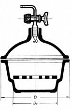 Эксикатор на 100 мм, в комплекте (Кат. № 263D/K/632 415 272 100) (Simax)