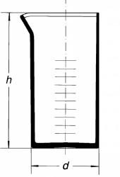 Мензурка без ручки, 2000 мл, цилиндрическая