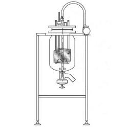 Аппарат реакционный, 50 л, со сливным клапаном