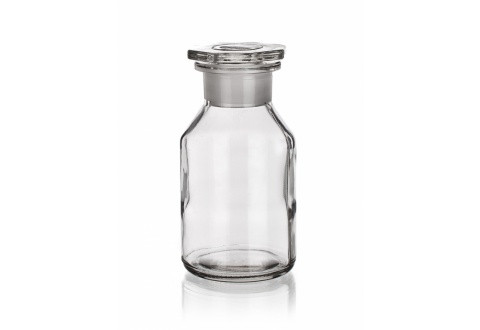 Склянка светлая (флакон), 500 мл, с пробкой (шир. горловина)