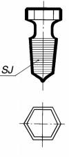 Пробка шестигранная, со шлифом 45/40