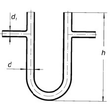 Трубка соединительная U-образная d1-6мм, d-10, L-80мм