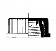 Красная крышка к банкам Simax, GL 45