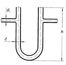 Трубка соединительная U-образная d 1-8 мм, d-16, L-150 мм