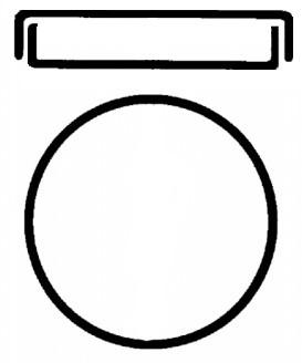 Чашка Петри, 55.5х15, натриевое стекло