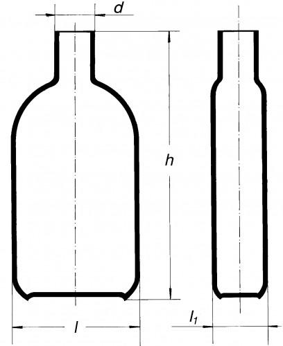 Бутыль Роукса, культуральная, 450 мл, горловина по центру