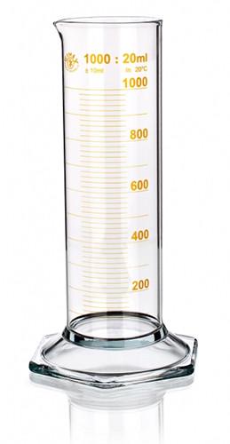 Цилиндр низкий, класс 2, 10 мл, с носиком, коричневая шкала