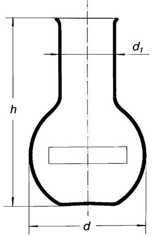 Колба плоскодонная, (шир. горловина) 6000-89