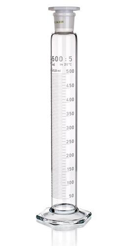 Цилиндр высокий, 5 мл, со стеклянной пробкой