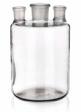 Бутыль Вульфа с 3 горловинами, 2000 мл, без крана