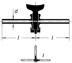 Кран двухходовый, 6 мм