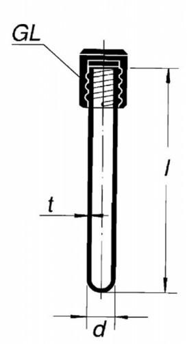 Пробирка круглодонная, 16*120 , с крышкой GL- 18