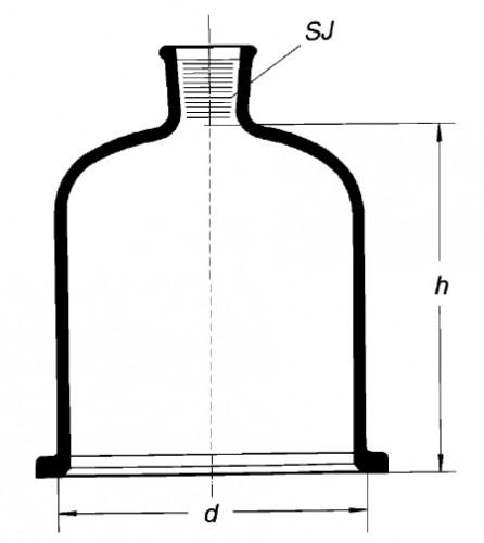 Колпак с краном, 200х350 мм, шлиф 29/32