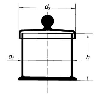 Бюкс с крышкой, 65х65 мм