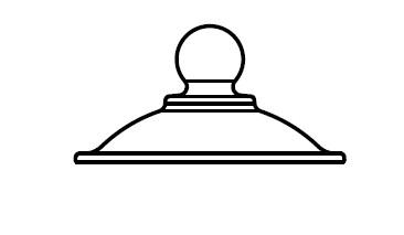 Крышка для эксикатора, диаметр 215 мм, со стеклянной ручкой