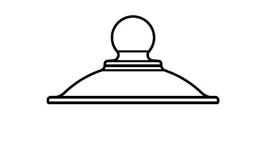 Крышка для эксикатора, диаметр 380 мм, со стеклянной ручкой