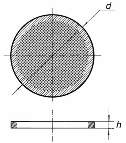 Стеклянный фильтр, S3/10, из толченого, спеченного стекла
