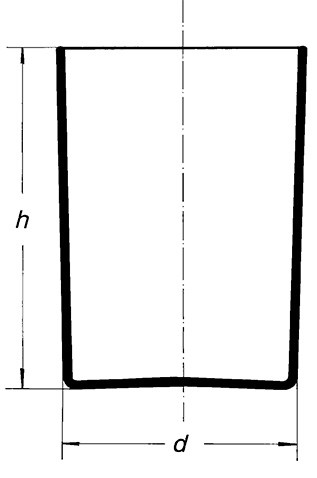 Кувшин для образцов цилиндрический, 200х300 мм