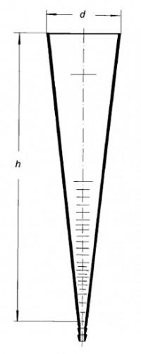 Воронка Имхоффа, 1000 мл, закрытый тип, швейцарская шкала
