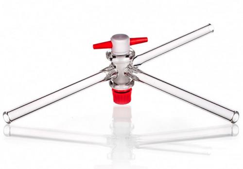 Кран трехходовой, 2 мм, Т-образный, тефлоновый вентиль