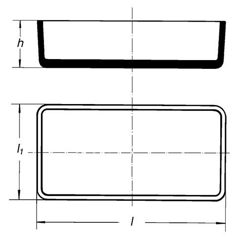 Антисептическая чаша, 200х100 мм, высота 50 мм