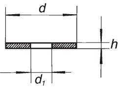 Прокладка PTFE с отверстием, 14-5, диаметр 13 мм