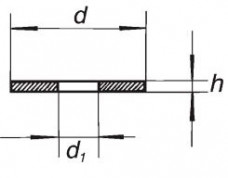 Прокладка PTFE с отверстием, 18-10, диаметр 17 мм