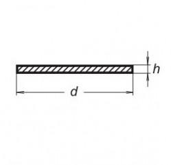 Прокладка PTFE без отверстия, диаметр 24 мм